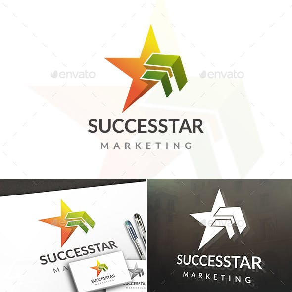 Success Arrow Star Logo