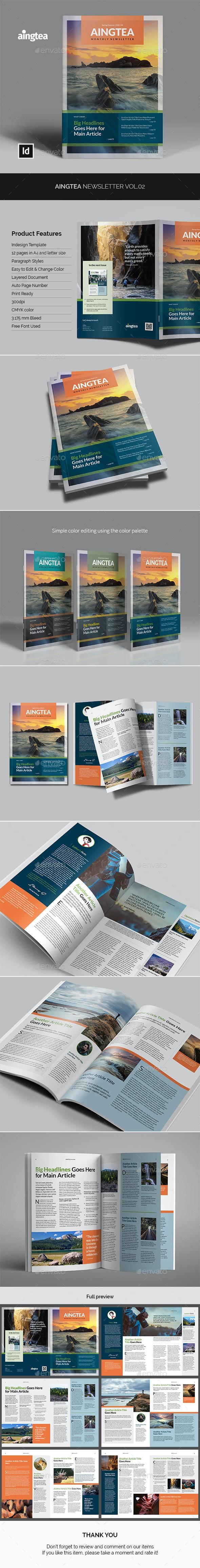 Aingtea Newsletter Vol.02 - Newsletters Print Templates