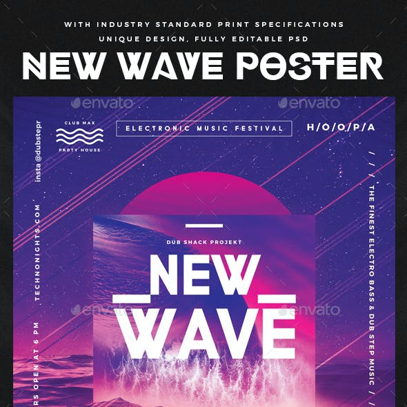 New Wave Modern Poster