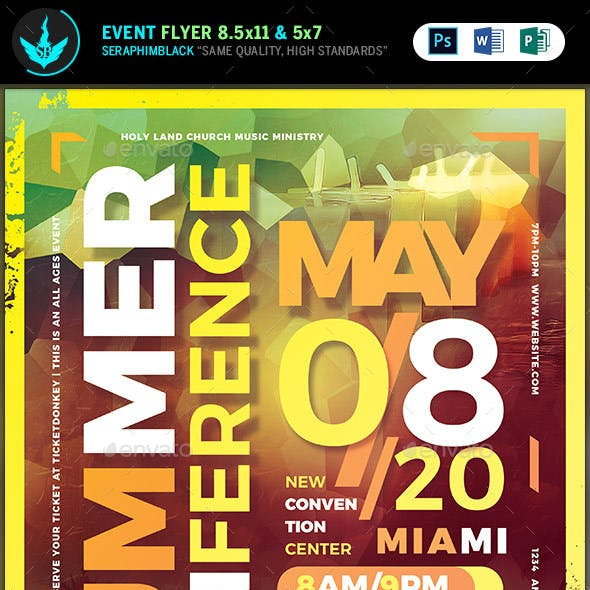 Summer Conference Flyer Template