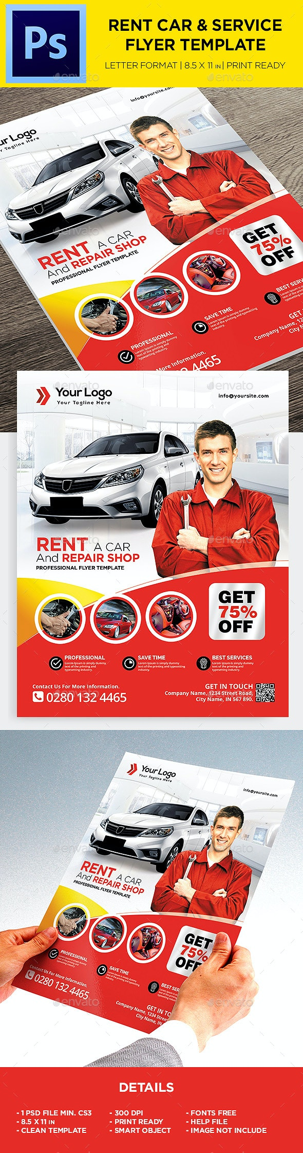 Rent A Car Flyer - Corporate Promotion - Corporate Flyers