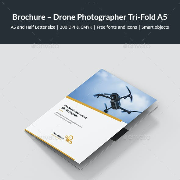 Brochure – Drone Photographer Tri-Fold A5