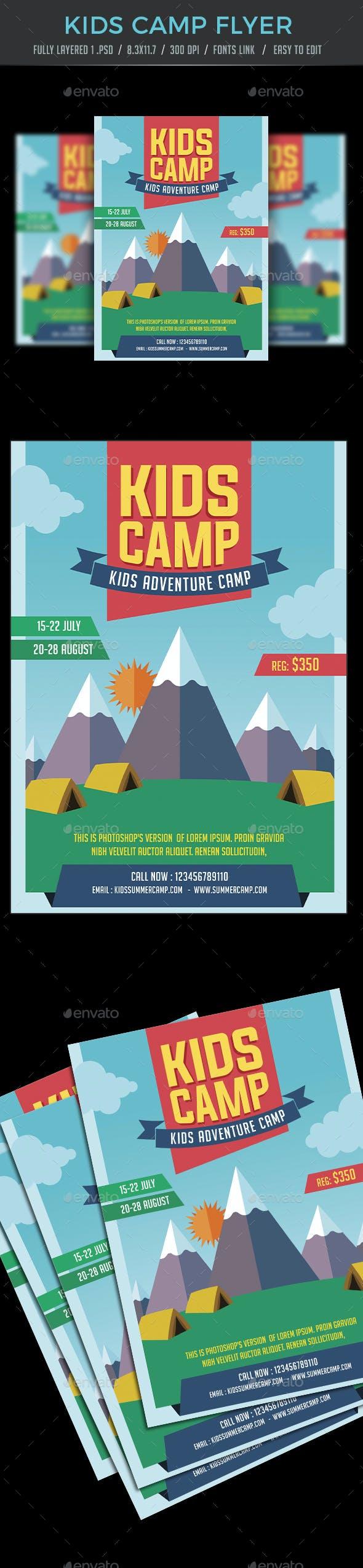Kids Camp / Summer Camp Flyer