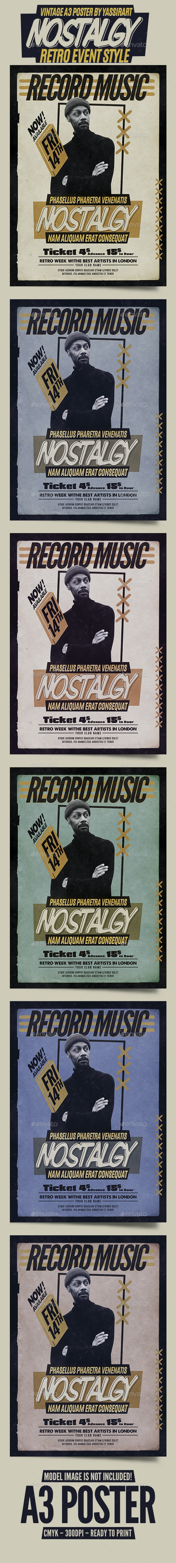 Vintage Poster / Flyer Music - Clubs & Parties Events