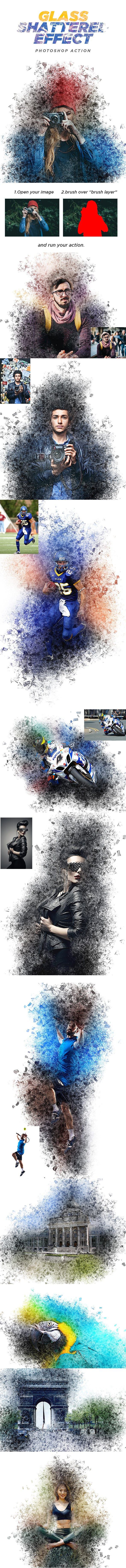 Glass Shattered Effect - Photoshop Action