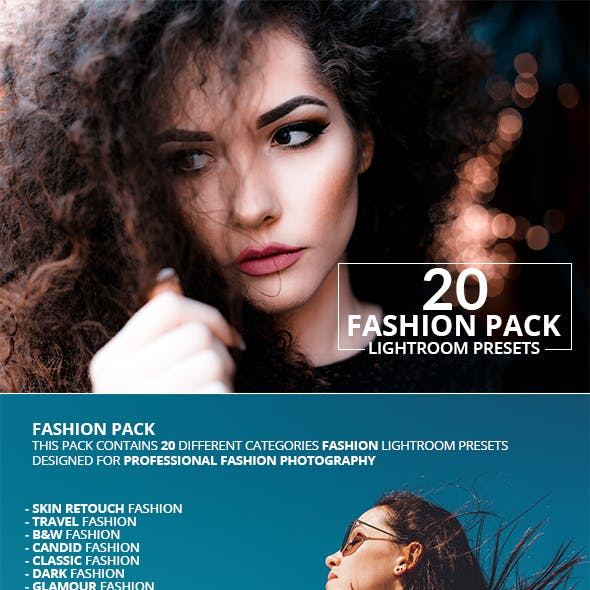 20 Fashion Pack Lightroom Presets
