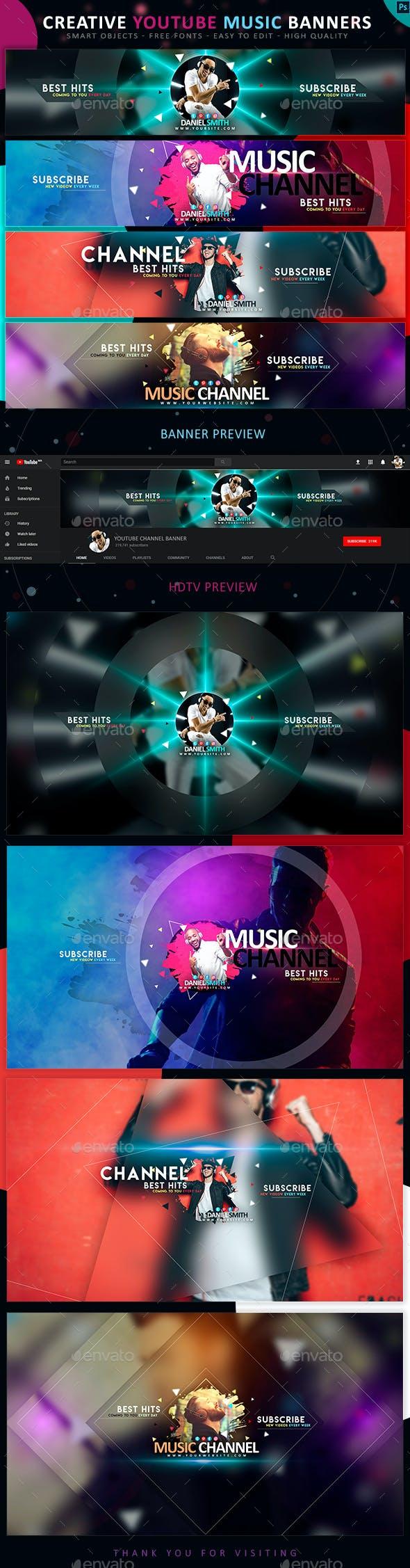 YouTube DJ & Music Banners