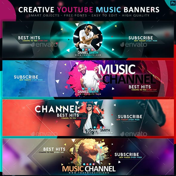 YouTube DJ & Music Banners