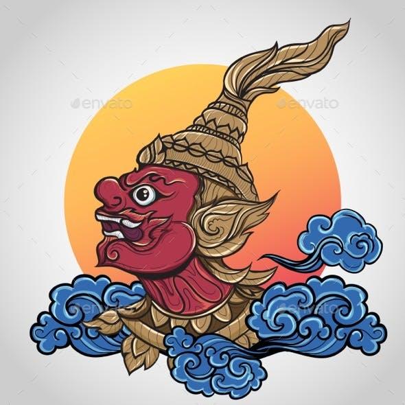 Ramayana Giant Thailand Art Tattoo