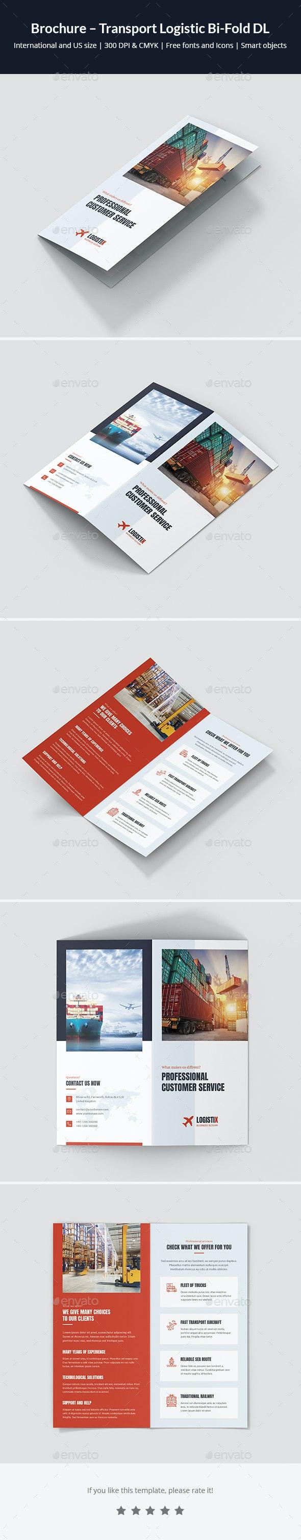 Brochure – Transport Logistic Bi-Fold DL - Corporate Brochures