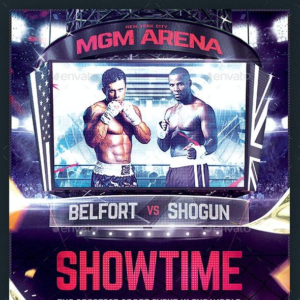 Jumbotron Sports Flyer MMA Basketball Hockey Music Gaming Template