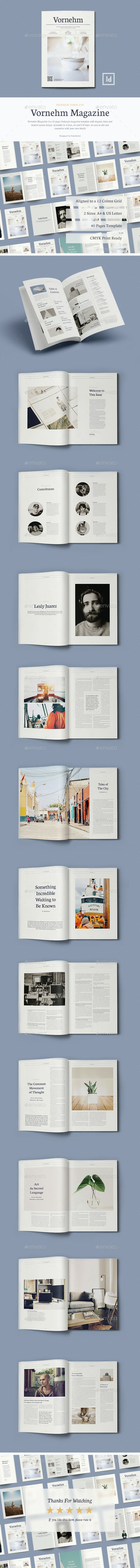 Vornehm Magazine - 40 Pages Indesign Template by Danibernd