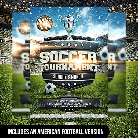 Soccer / Football Tournament Flyer Template