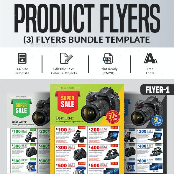 Product Flyers Bundle Templates