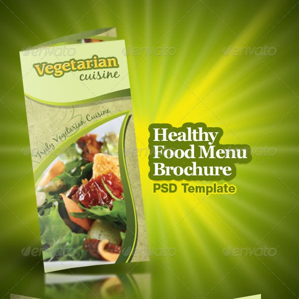 Healthy Food Menu Brochure Trifold