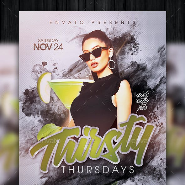 Thirsty Thursdays Flyer Template