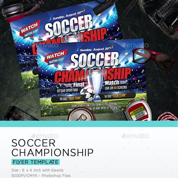 Soccer Championship Flyer