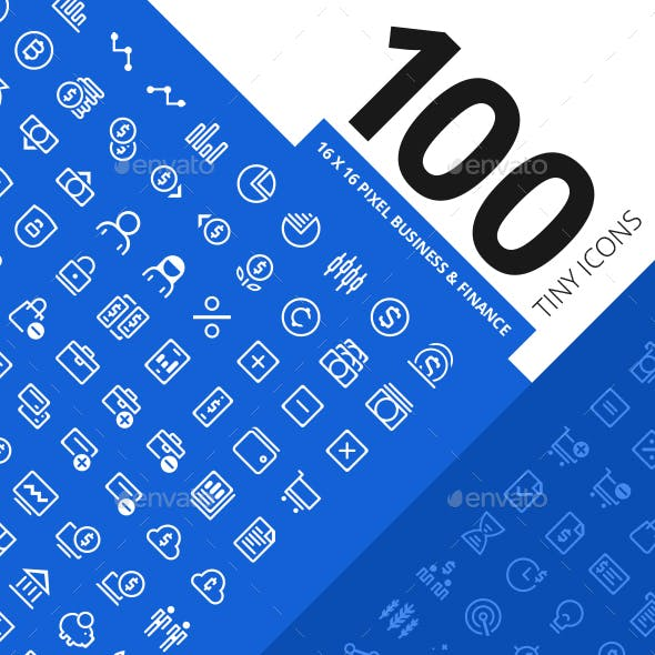 100 Tiny Icons Business & Finance