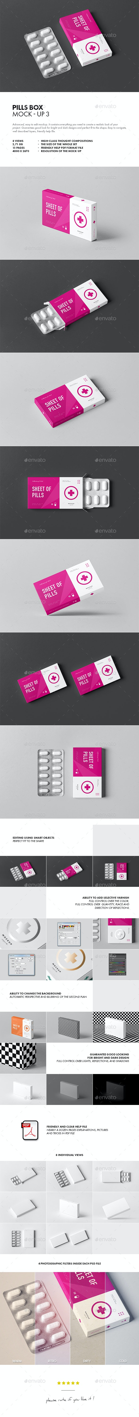 Pills Box Mock-up 3 - Miscellaneous Packaging