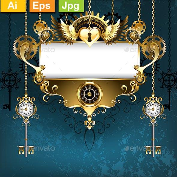 Symmetrical Steampunk Banner