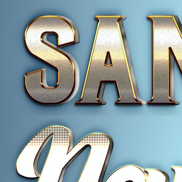 3D Text Styles R11