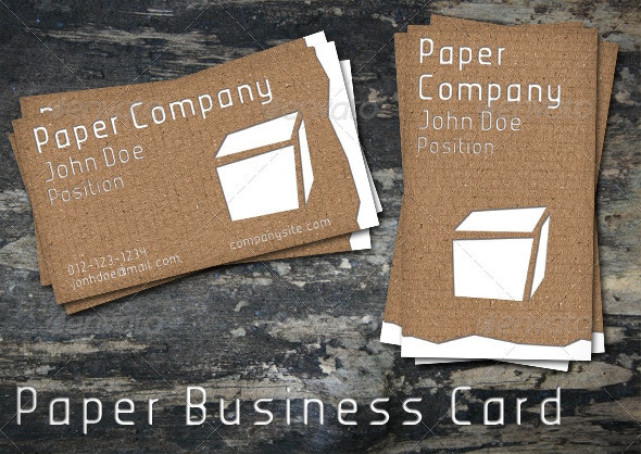 Paper Business Card - Grunge Business Cards