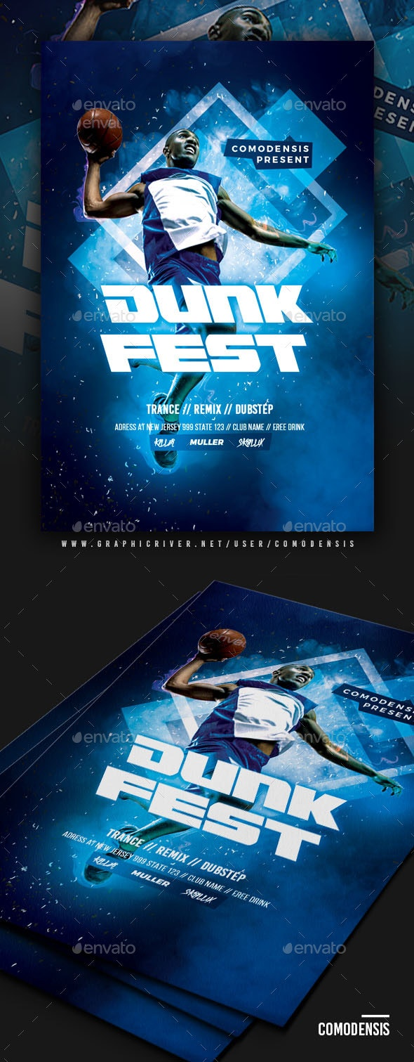 Slam Dunk Contest Flyer Template - Events Flyers