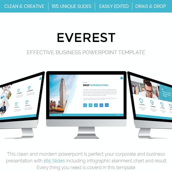 Everest - Effective Business Powerpoint Template 2018