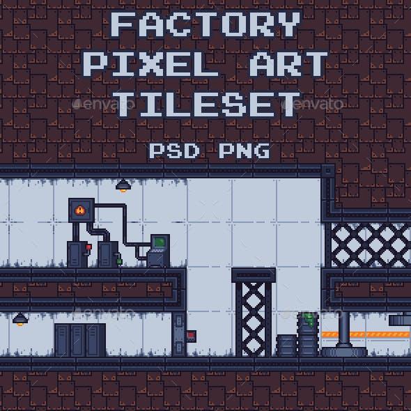 Factory Pixel Art Tileset
