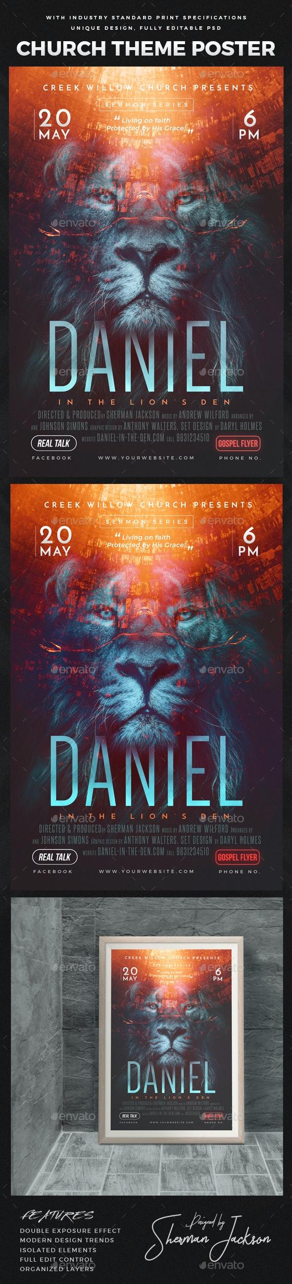 Church Themed Event Poster  - Daniel - Church Flyers
