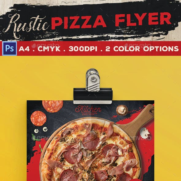 Rustic Pizza Flyer