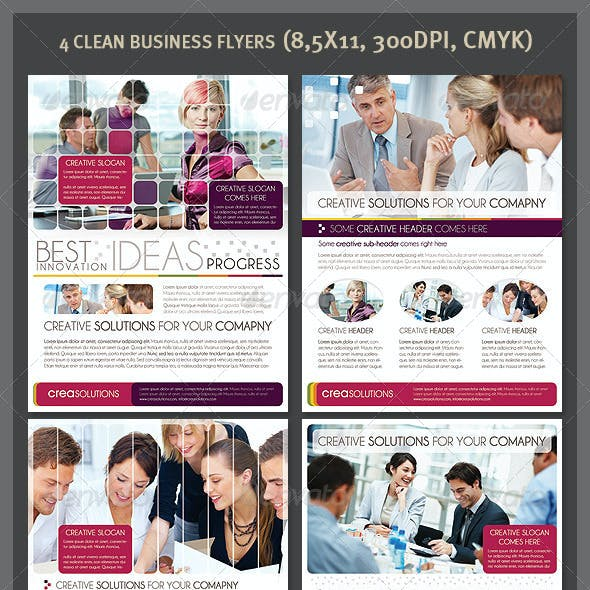 4 Clean Business Flyers