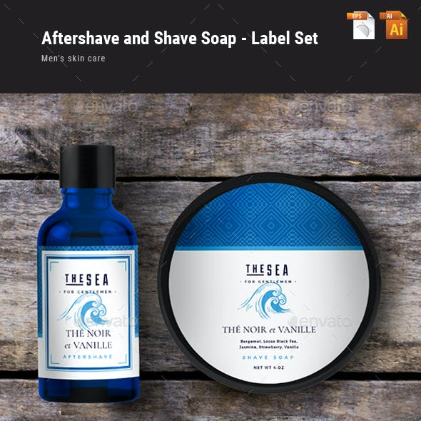 Aftershave and Shave Soap Labels