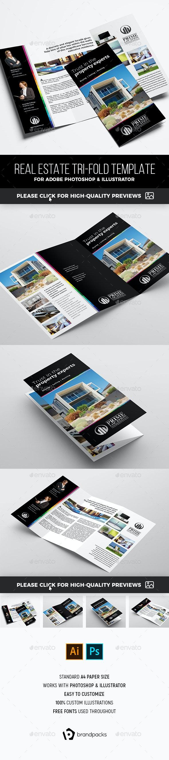 Real Estate Tri-Fold Brochure Template - Corporate Brochures