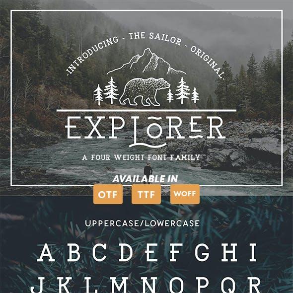 EXPLORER - The Sailor Original Typeface