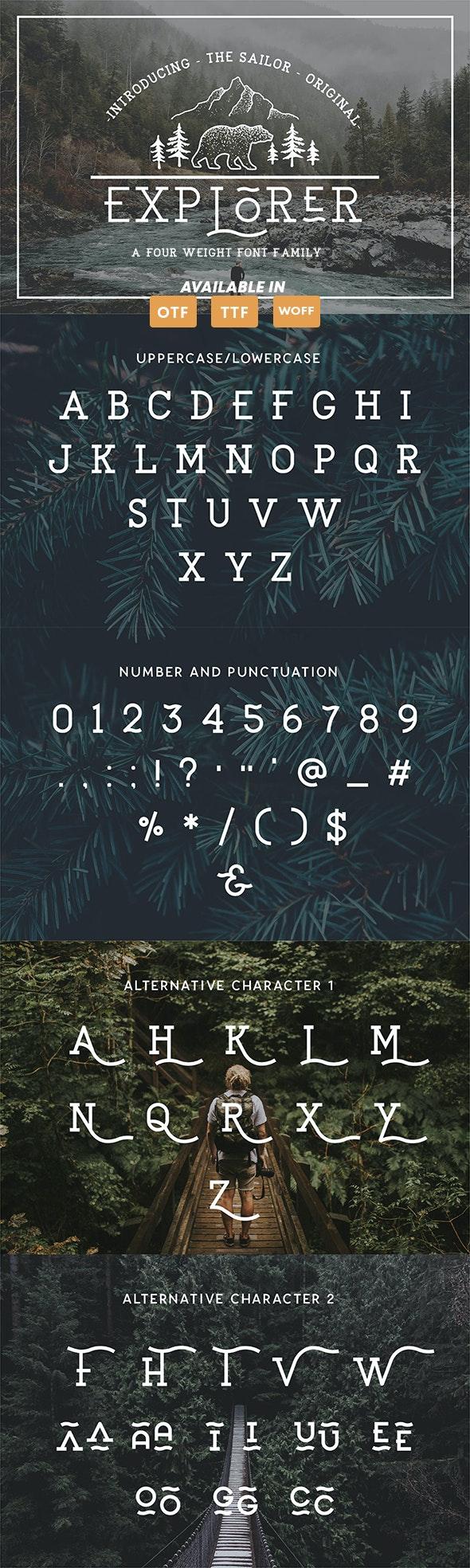 EXPLORER - The Sailor Original Typeface - Sans-Serif Fonts