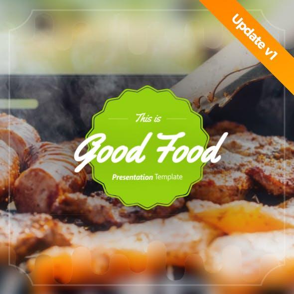 Good Food Presentation Template