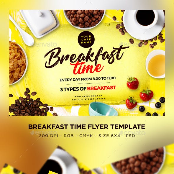 Breakfast Time Flyer