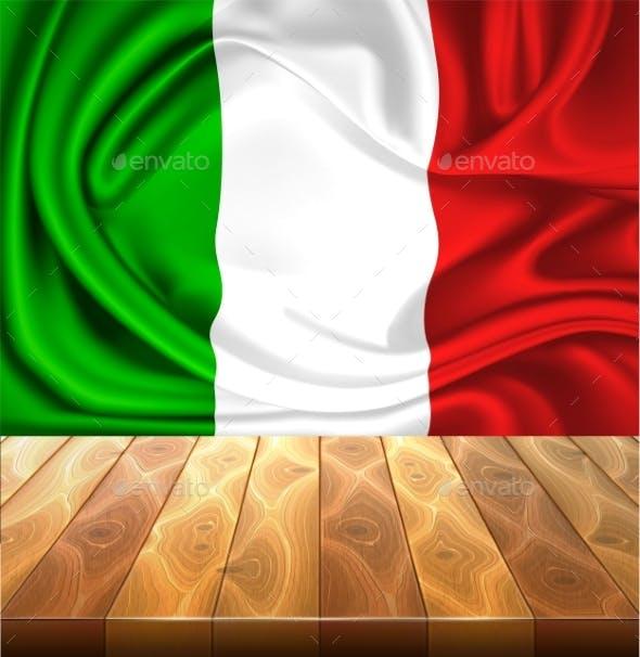 Vector Mexico Italy Flag Realistic Silk Drape