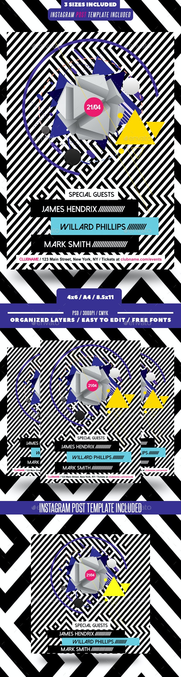 Abstract Geometric Flyer - Clubs & Parties Events
