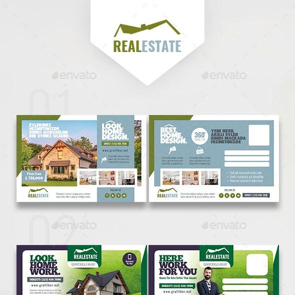 Real Estate Bundle Postcard Templates