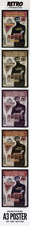 Vintage Poster / Flyer Dj - Events Flyers