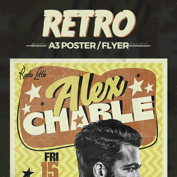 Retro Poster Music Template