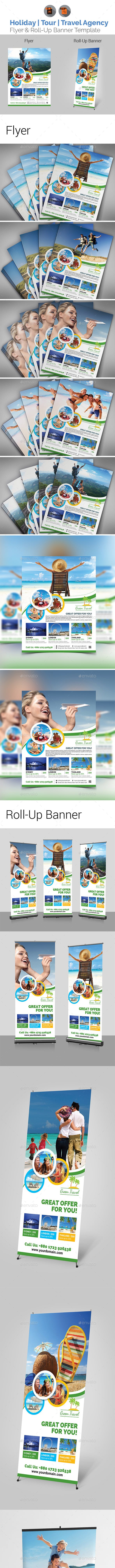 Travel Flyer with Roll-Up Bundle