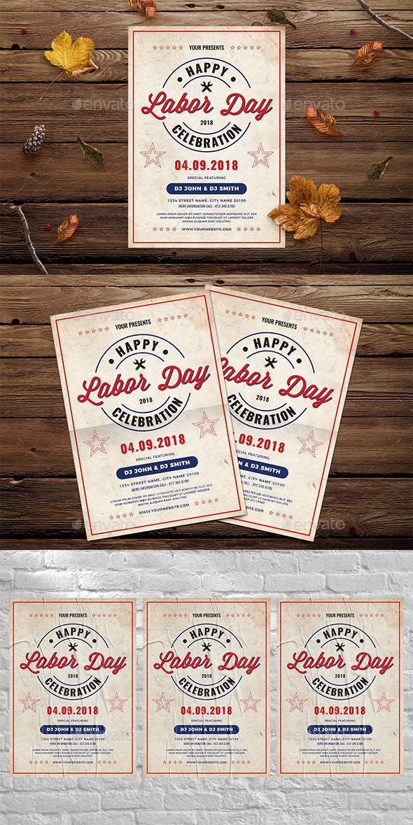 Vintage Labor Day Flyer - Events Flyers