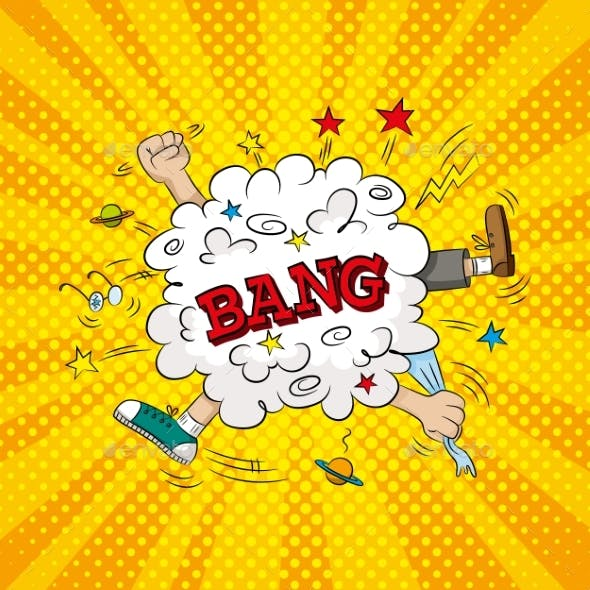 Pop Art Illustration of Bang