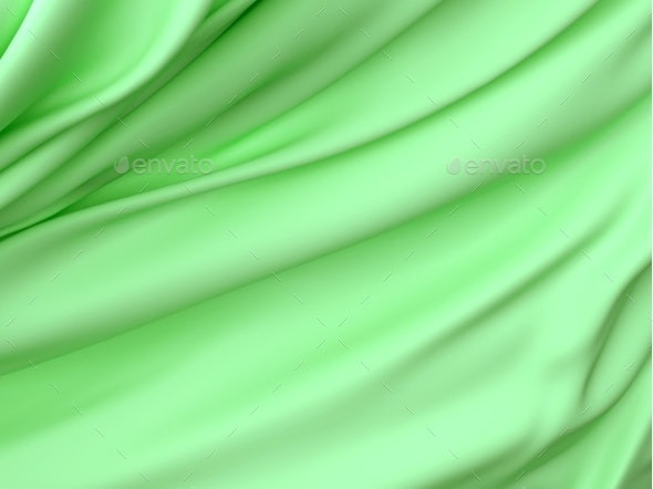 Abstract Texture, Green Silk - 3D Renders Graphics
