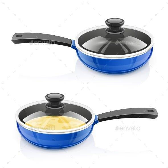 Blue Pan with Lid