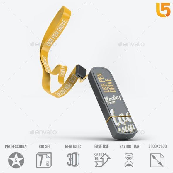 USB Pen Drive Mock-Up