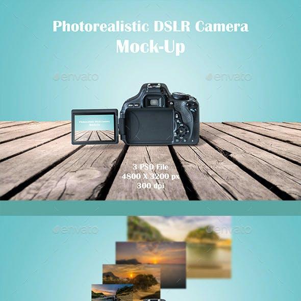 DSLR Camera MockUp Photorealistic